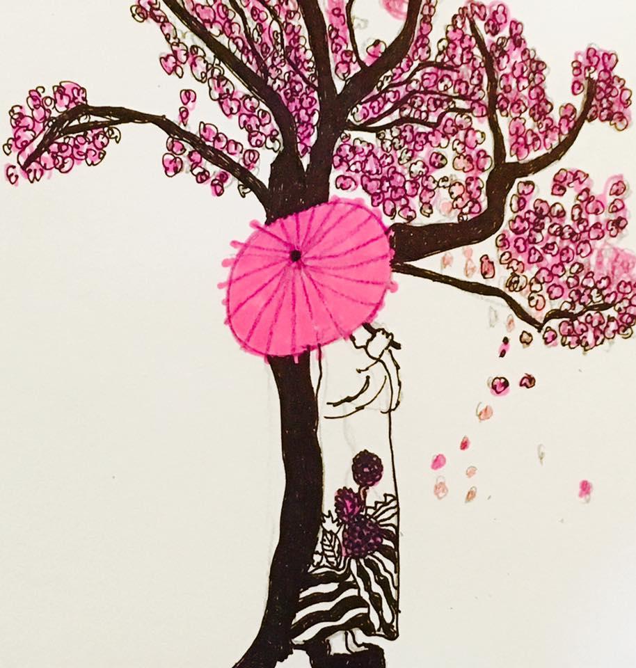 Cherry blossoms by Heather Ann Schmidt