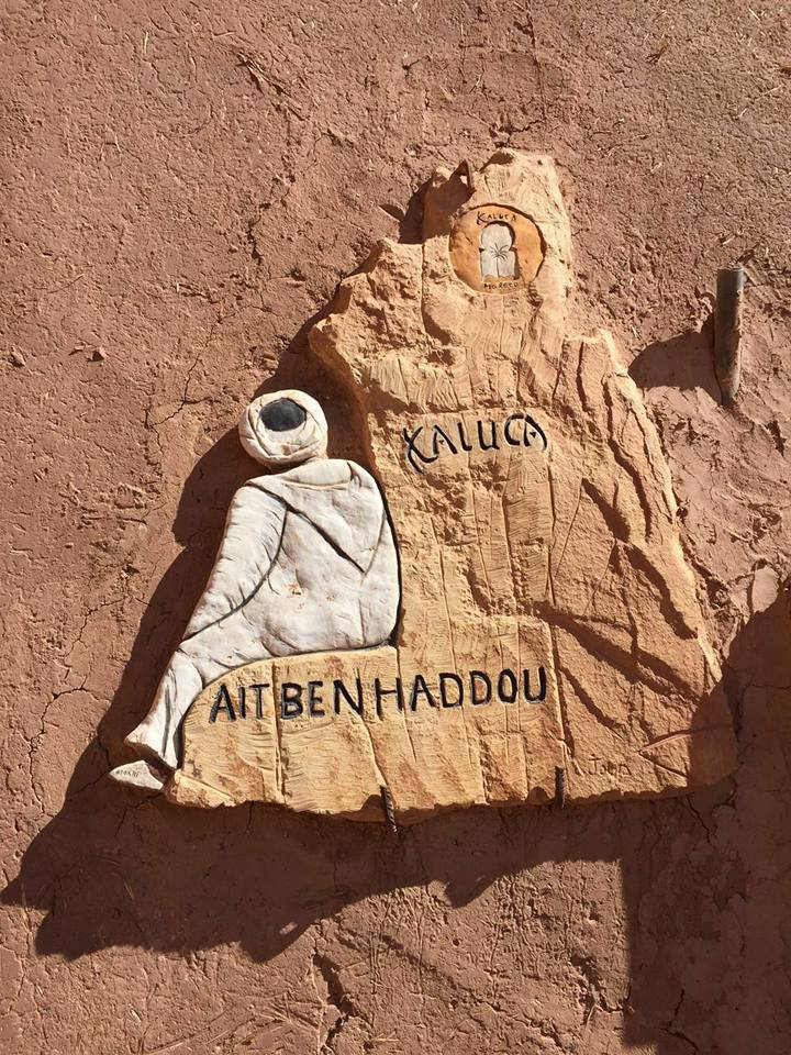 Le centre cinématographique près de Ouarzazate by Georgette Verraghen
